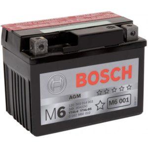 Bosch 3 Ач  M60 01 (YT4L-BS)
