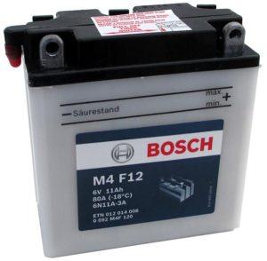 Bosch 11 Ач 6 В M4F 12 (6N11A-3A)