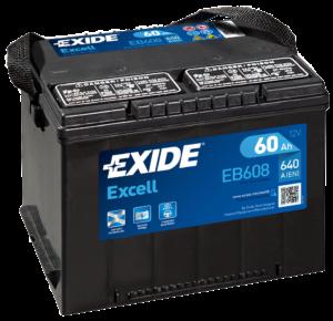 EXIDE Excell 60 Ач боковые клеммы